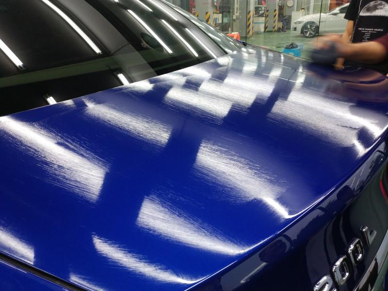 重庆奔驰C200车漆镀晶